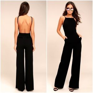 NWT Lulus Something to Behold Black Jumpsuit